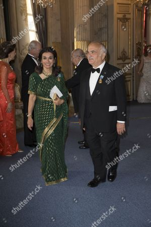 Prince Hassan bin Talal and Princess Sarvath El Hassan of Jordan, Banquet in connection with The King's birthday, Royal Palace, Stockholm