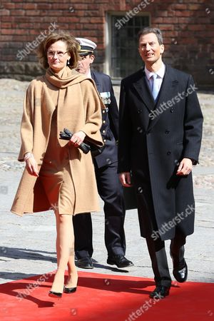 Crown Prince Alois of Liechtenstein of Liechtenstein, Princess Sophie of Isenburg of Liechtenstein, Celebrations of The King's 70th birthday. Lunch hosted by the City of Stockholm, Stockholm City Hall