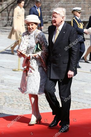 Olafur Ragnar Grimsson, president of Iceland, Dorrit Moussaieff, Celebrations of The King's 70th birthday. Lunch hosted by the City of Stockholm, Stockholm City Hall