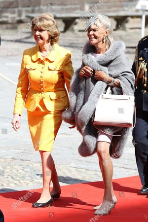 Princess Desiree Nosbusch, Princess Birgitta, Celebrations of The King's 70th birthday. Lunch hosted by the City of Stockholm, Stockholm City Hall