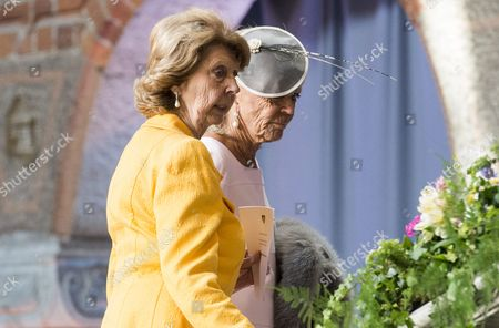 Princess Desiree Nosbusch and Princess Birgitta of Sweden, Celebrations of The King's 70th birthday. Lunch hosted by the City of Stockholm, Stockholm City Hall