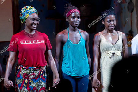 Saycon Sengbloh, Lupita Nyong'o and Pascale Armand