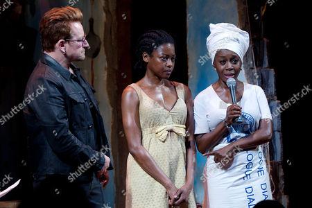 Bono, Pascale Armand and Akosua Busia