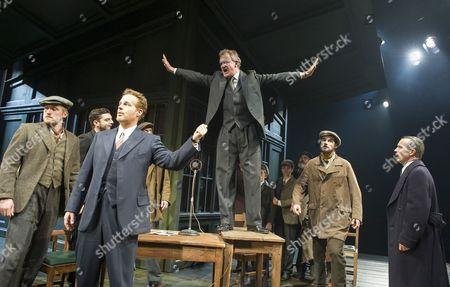 Adam James as Hovstad, Hugh Bonneville as Dr Stockman, Keiran Gough as Anders, Jonathan Cullen as Aslaksen