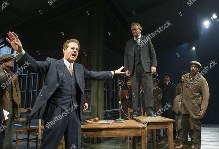 Adam James as Hovstad, Hugh Bonneville as Dr Stockman, Keiran Gough as Anders