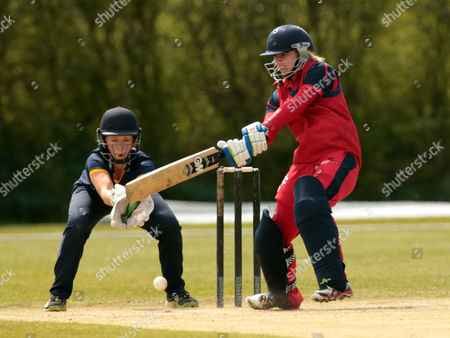 Stock Image of Cricket Wales Women's Claire Thomas during League ECB Women's County Championship Division 2 Essex Women 1st XI against Cricket Wales Women's 1st XI at Billericay Cricket Club 01 May 2016