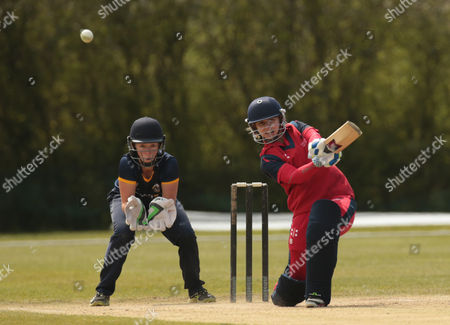 Cricket Wales Women's Claire Thomas during League ECB Women's County Championship Division 2 Essex Women 1st XI against Cricket Wales Women's 1st XI at Billericay Cricket Club 01 May 2016