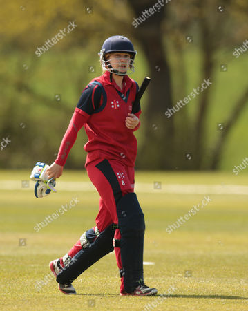 Stock Photo of Cricket Wales Women's Claire Thomas during League ECB Women's County Championship Division 2 Essex Women 1st XI against Cricket Wales Women's 1st XI at Billericay Cricket Club 01 May 2016
