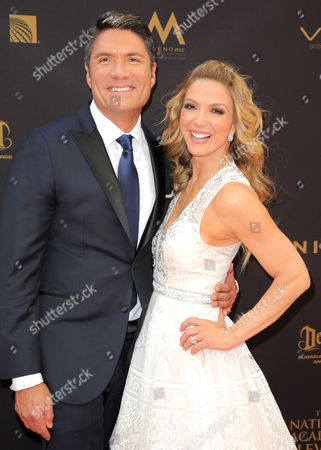 Louis Aguirre and Debbie Matenopoulos