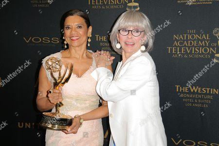 Sonia Manzano and Rita Moreno