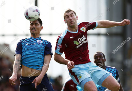 Alejandro Faurlin of QPR and Sam Vokes of Burnley during the Sky Bet Championship match between Burnley and QPR played at Turf Moor, Burnley on May 2nd 2016