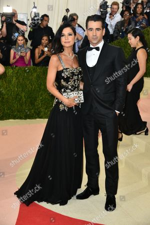 Claudine Farrell and Colin Farrell