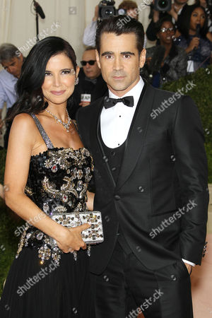 Stock Photo of Claudine Farrell and Colin Farrell