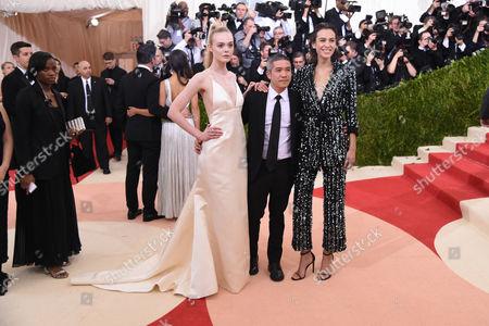 Stock Photo of Elle Fanning, Thakoon Panichgul, and Alexa Chung