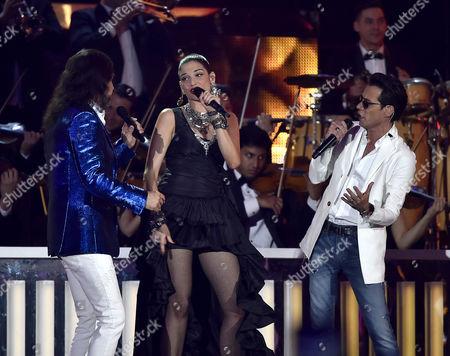 Stock Photo of Marco Solis, Natalia Jimenez, Marc Anthony