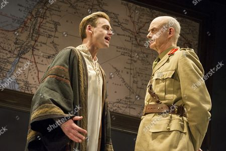 Stock Picture of Jack Laskey as TE Lawrence, William Chubb as Field Marshall Edmund Allenby