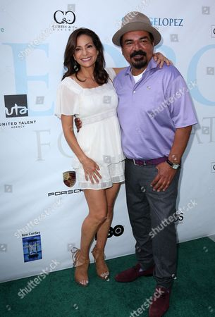Stock Picture of Constance Marie, George Lopez