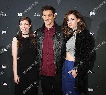 Katelyn Nacon, Tim Granaderos and Amanda Steele