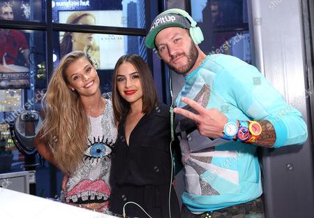Nina Agdal, Olivia Culpo and Johnny Wujek