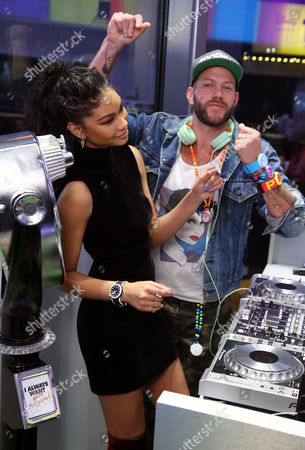 Chanel Iman and Johnny Wujek