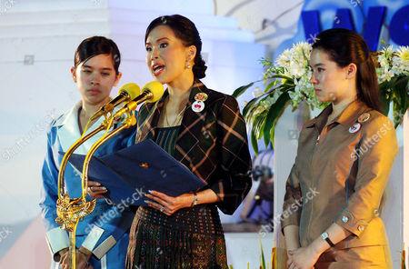 Thai Crown Princess Ubol Ratana who lost her son in the 2004 tsunami presides over an Interfaith Memorial Service, Bang Niang Beach, Phang nga,