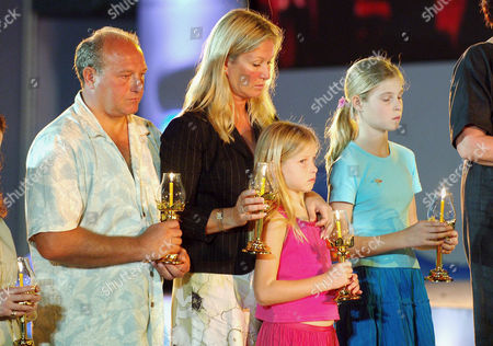 British tsunami hero Tilly Smith (right with sister Holly and parents Colin and Penny) was credited with saving her family and over 100 fellow tourists in the boxing day 2004 tsunami. She read a poem in front of Crown Princess Ubol Ratana at an Interfaith Memorial Service at Bang Niang Beach, Phang nga