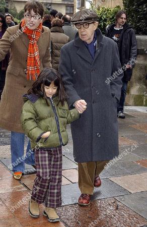 Woody Allen with daughter Manzie Tio