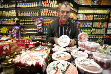Editorial picture of PETER MYERS, WHO RUNS A BRITISH GROCERY STORE IN NEW YORK, AMERICA - 19 DEC 2005