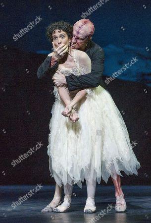 Steven McRae as The Creature,Laura Morera as Elizabeth Lavenza