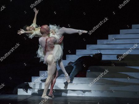 Steven McRae as The Creature,Laura Morera as Elizabeth Lavenza