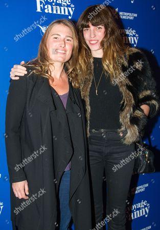 French director Lola Doillon (L) , Franco British actress and model Lou Doillon (R)