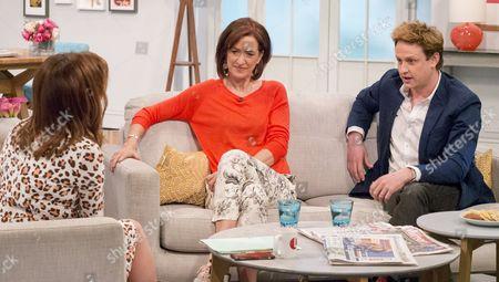 Lorraine Kelly with Haydn Gwynne and Richard Goulding