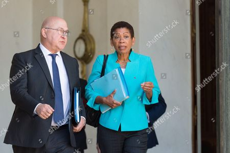 French Minister of Finance and Public Accounts, Michel Sapin and French minister of overseas territories, George Pau-Langevin