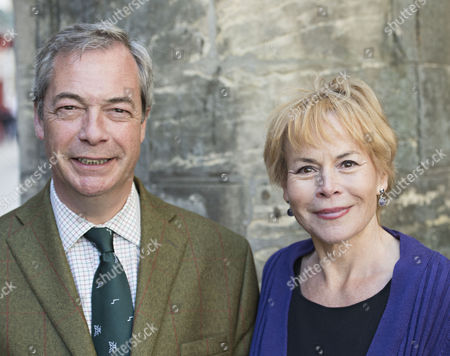 Stock Picture of Nigel Farage UKIP Leader and Victoria Ayling