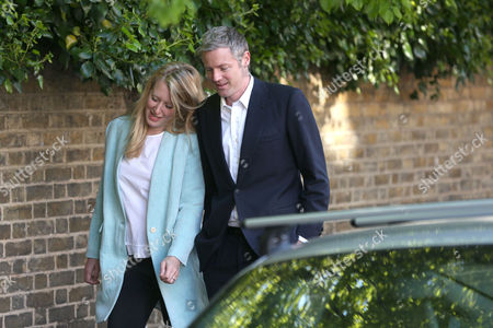 Zac Goldsmith arrives at the polling station with his wife Alice Rothschild to cast their votes - Conservative Candidate for Mayor of London - Voting at Kitson Hall, Barnes, Richmond Park Constituency - London - 05/05/2016  Andrew Fosker/ Seconds Left Images