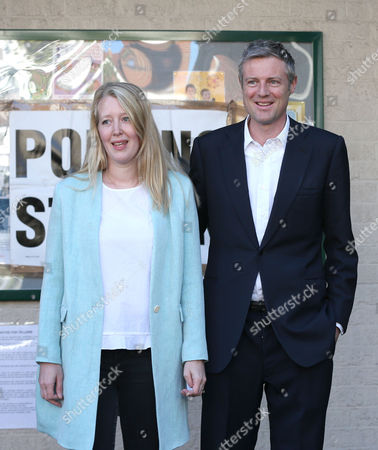 Zac Goldsmith at the polling station with his wife Alice Rothschild to cast their votes - Conservative Candidate for Mayor of London - Voting at Kitson Hall, Barnes, Richmond Park Constituency - London - 05/05/2016  Andrew Fosker/ Seconds Left Images