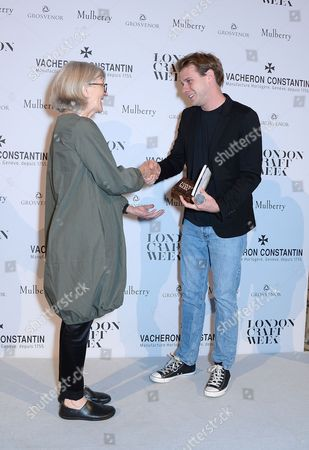 Stock Image of Alison Britton receiving her award