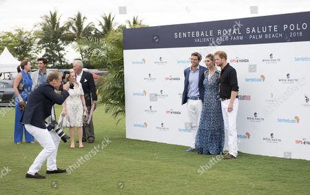 Prince Harry Delfina Blaquier and Malcolm Borwick