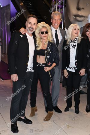 David Furnish, Lady Gaga, Terry J. Lundgren, CEO, Chairman of the Board, President, and Director at Macy's, Inc. and Cynthia Germanotta