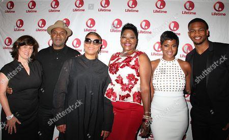 Stock Photo of Tanya Lopez, Nelson George, Queen Latifah, Wanda Durant,Cassandr