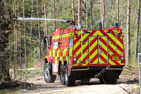 Editorial photo of Fire in Burghfield forest on the Englefield Estate, Berkshire, Britain - 04 May 2016