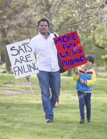 Editorial picture of Parents against SATs Testing demonstration, Brighton, Britain - 03 May 2016