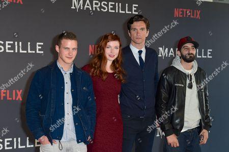 Guillaume Arnault, Carolina Jurczak, actor and Hedi Bouchenafa