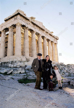 Woody Allen, Soon Yi Previn and daughters Manzie Tio and Bechet at Acropolis
