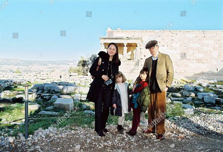 Soon Yi Previn, daughters Manzie Tio and Bechet and Woody Allen at Acropolis