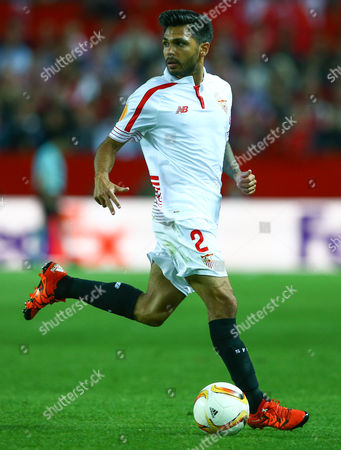 Stock Picture of Benoit Tremoulinas of Sevilla during the UEFA Europa League Semi Final Second Leg match between Sevilla and Shakhtar Donetsk played at the Ramon Sanchez Pizjuan Stadium, Sevilla on 5th May 2016