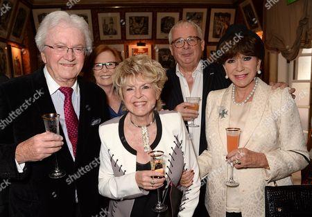 Leslie Bricusse, Gloria Hunniford, Christopher Biggins and Yvonne Romain
