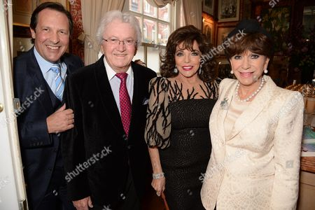 Percy Gibson, Leslie Bricusse, Dame Joan Collins and Yvonne Romain