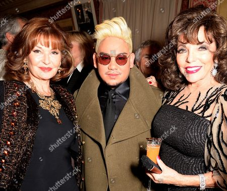 Stock Picture of Stephanie Beacham, Prince Azim and Dame Joan Collins