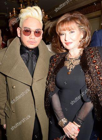 Stock Photo of Prince Azim and Stephanie Beacham